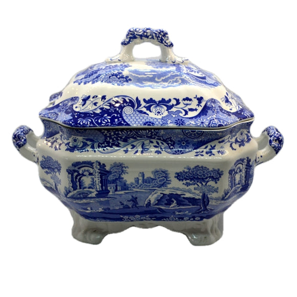 Spode Italian Blue and White China Grand Lidded Tureen Soupier