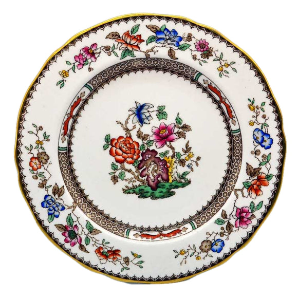 9 inch gilt rim spode chinese rose plates