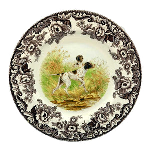 Spode hunting dogs flat coat pointer plate