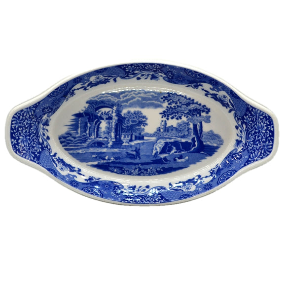 Spode Italian Blue and White China 14-inch Oven Dish
