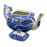 Antique Spode Italian Blue Teapot