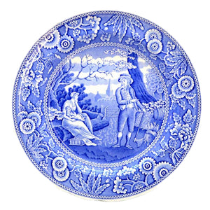 Spode blue room china woodman dinner plate