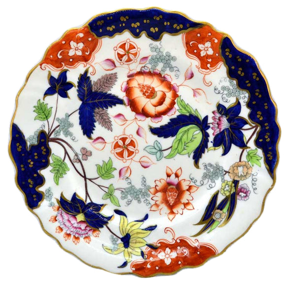 Superb Antique hand Painted Imari / Gaudy Staffordshire display plate