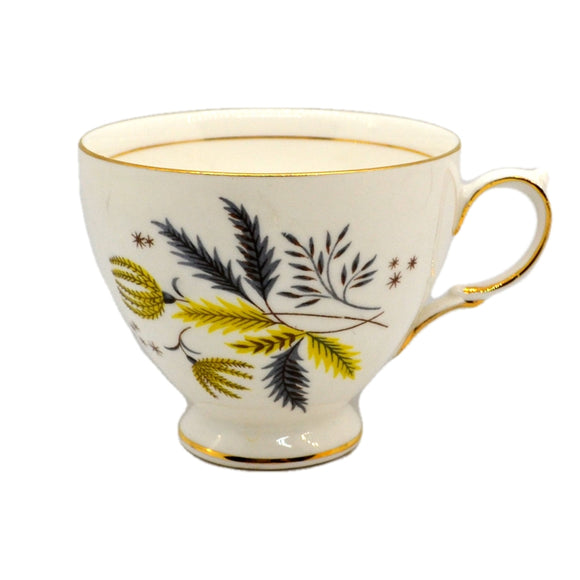 colclough stardust china c shape tea cups