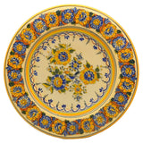 Vintage Chrysanthemum and Blue Bird Studio Pottery Wall Plate