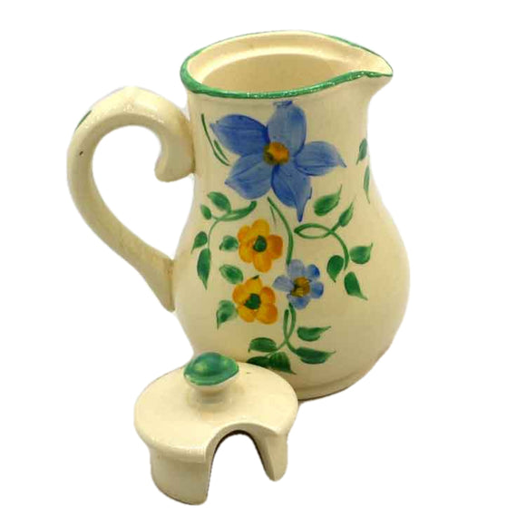 Sudlows Burslem Hand Painted Floral China Hot Water Jug