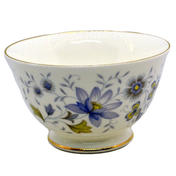 Colclough Rhapsody in Blue bone china sugar bowl