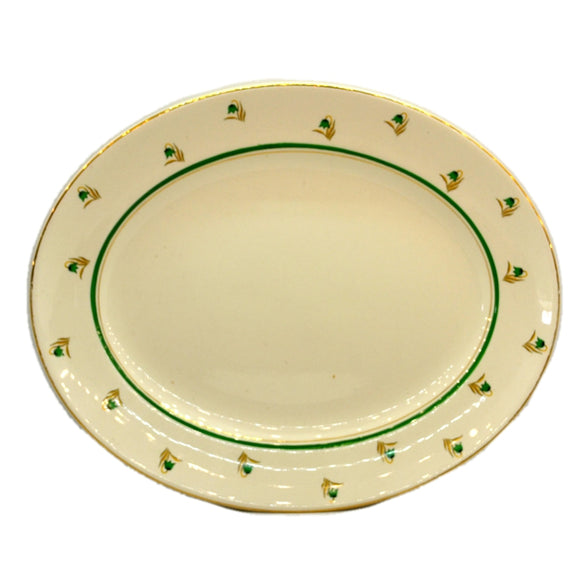 Swinnertons Green and White China 4403 Oval Platter