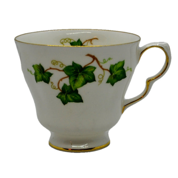 Ivy Leaf D shape Tea cup Colclough