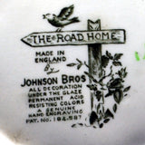 Johnson Bros china factory marks the road home teapot