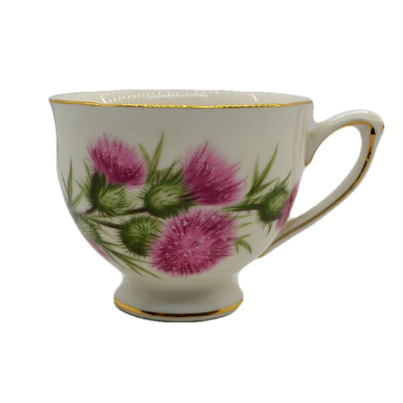 Colclough vintage china thistle tea cups shape C