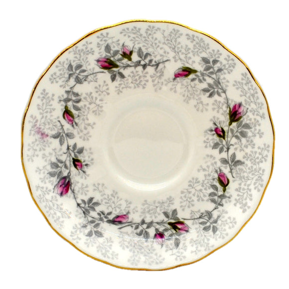 Tuscan Floral China Fashion Rose Saucer 1947 R H & S L Plant