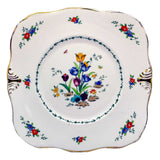 tuscan floral china serving plates