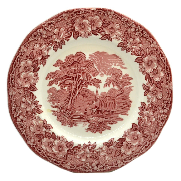 Unicorn English Tableware Red and White China Woodland Plate