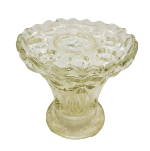 antique pressed glass flower vase