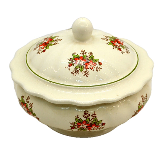 Vintage CTM Floral China lidded Pin Dish