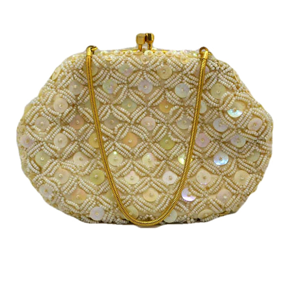 vintage beaded and sequin small evening bag