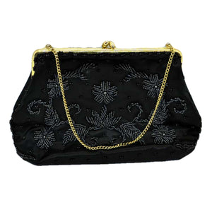 Hand beaded vintage evening bag