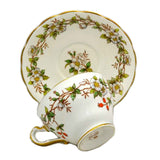 Vintage Adderley Floral China White Briar Rose F15 china