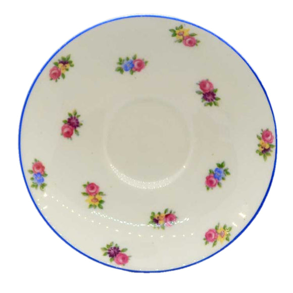 rare colclough china pattern roses vintage china saucers