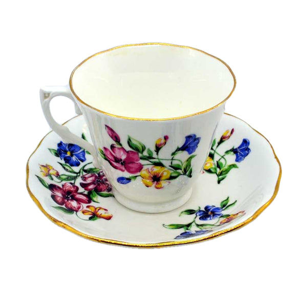 post war colclough vintage floral china