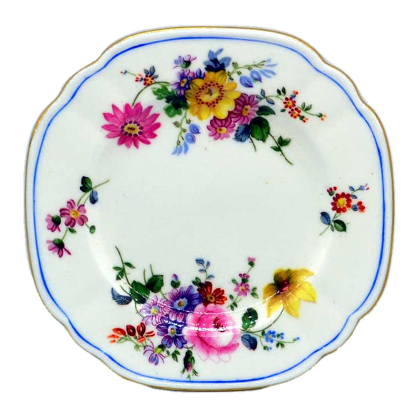 Rare Vintage Royal Crown Derby Posies Square Side Plate