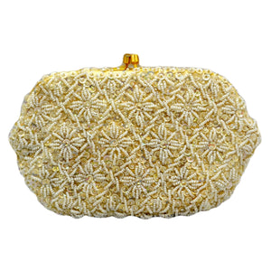Vintage Beaded & Sequin Empire Made Evening Bag
