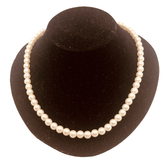 Vintage faux pearl necklace 15 inch