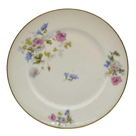 Vintage bone china floral design dessert vplates