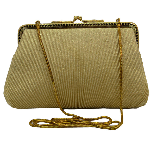 Vintage Gold lame Evening Bag