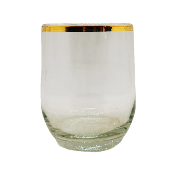 Set of 6 Gilt Rimmed Tumblers