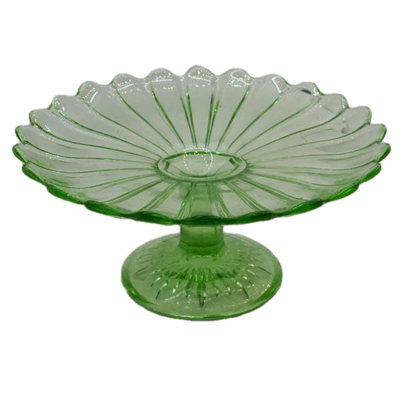 English pressed glass fruit stand or cake plate