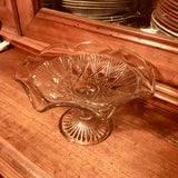 vintage pressed glass fruit stand