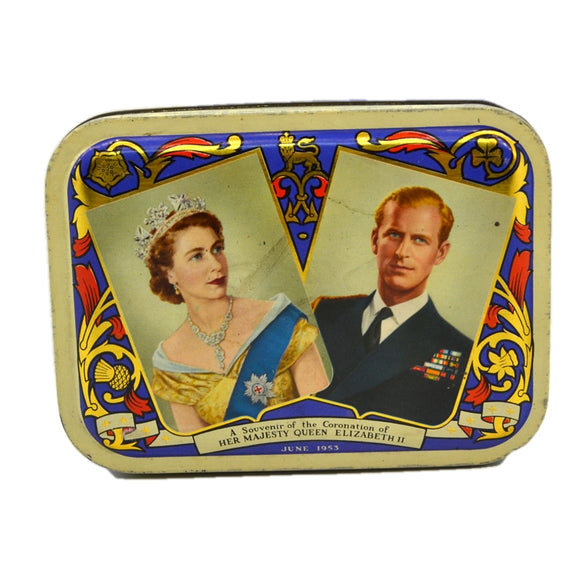 Vintage 1953 Queen Elizabeth Coronation Milady Toffee Tin