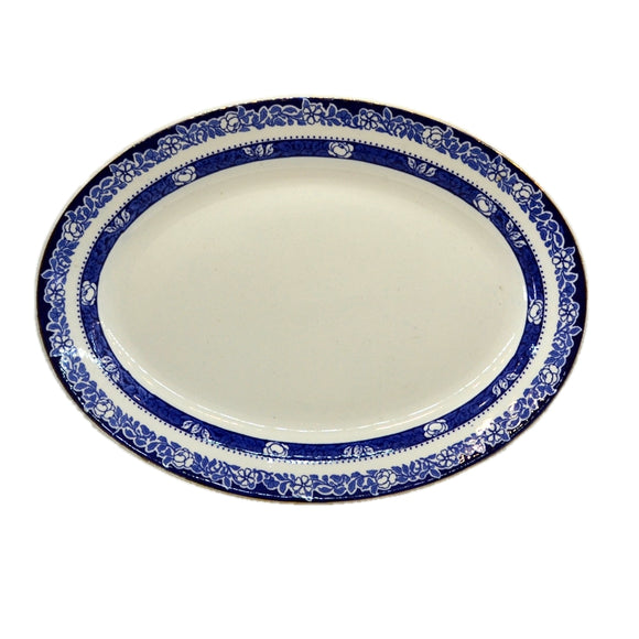 William Hulme Blue and White China Melrose Platter