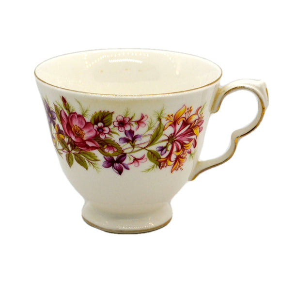 Colclough Wayside bone china tea cup pattern 8581 shape C