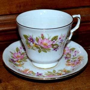 Colclough Wayside teacup and saucer