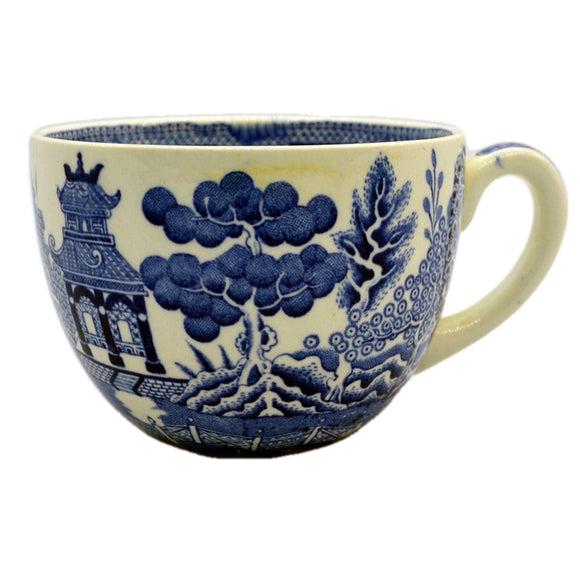Wedgwood breakfast cups willow pattern