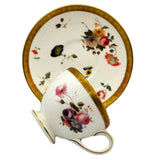 wedgwood floral gold china teacup and saucer