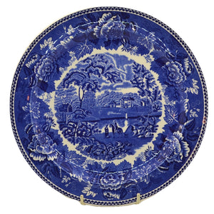 Wedgwood blue and white Landscape dinner plate