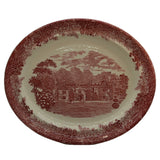 Wedgwood Queensware Romantic England Red and White China Platter