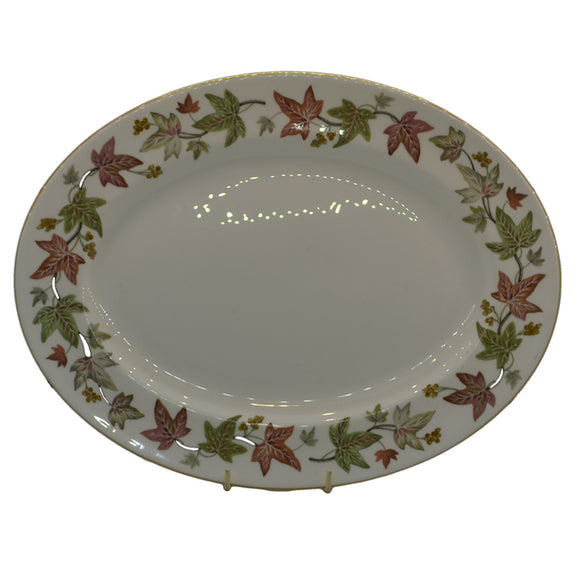 vintage wedgwood serving platter in Ivy house pattern