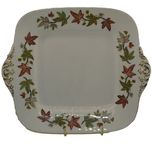 large vintage wedgwood cake plate in ivy house pattern