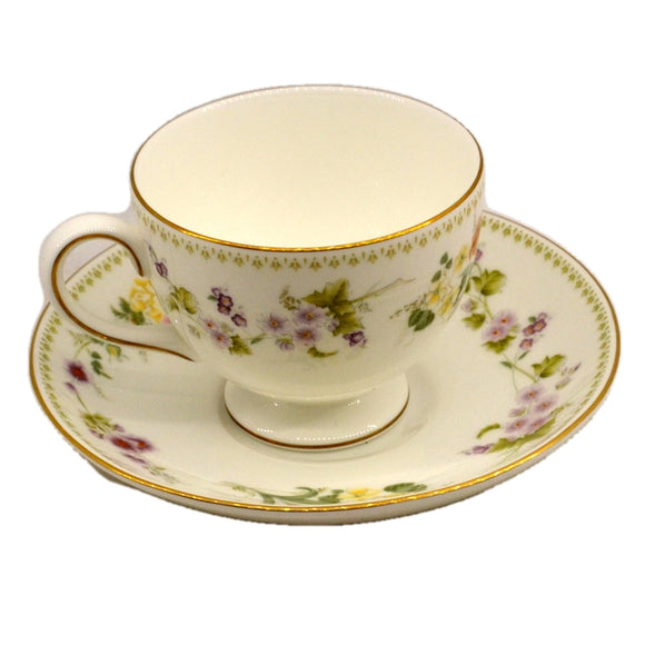 Wedgwood China Mirabelle R4537 Teacup and Saucer