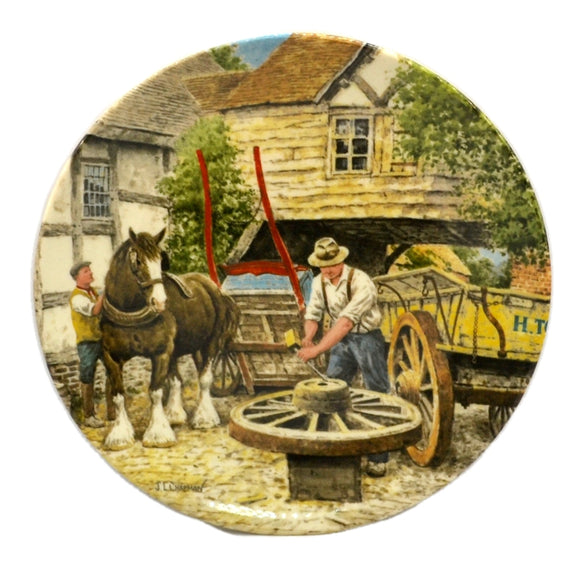 Wedgwood China The Wheelwright 8 inch Plate  No 6100B
