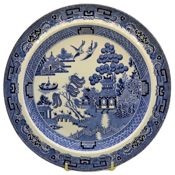 Wedgwood Blue and White Willow china 10 inch dinner plate