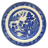 Wedgwood Blue and White Willow china 9.25-inch rimmed bowl