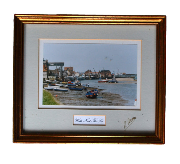 Wells Next The Sea signed Framed Photgraph