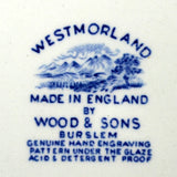 Wood & Sons Westmorland  Blue and White China Mark