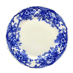 antique blue and white wild rose side plate